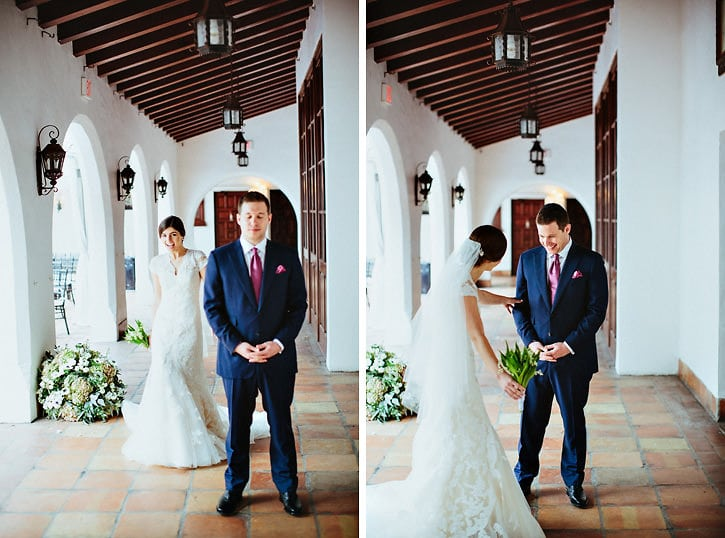 wedding day first look