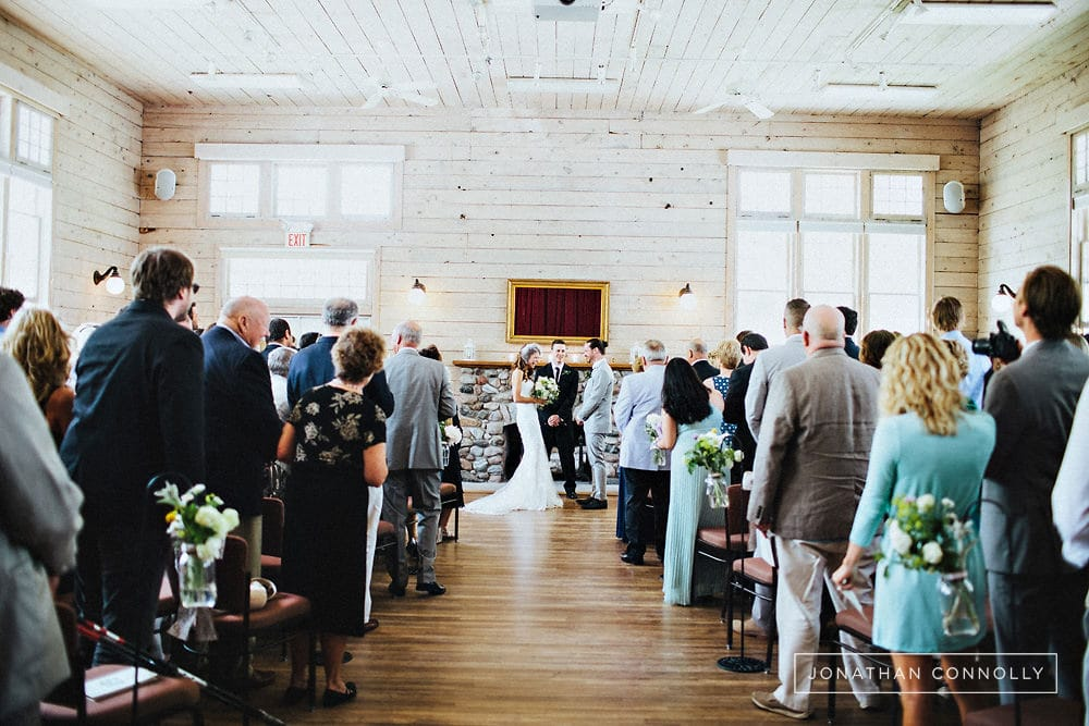 old art building wedding