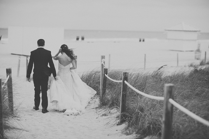 b&w beach wedding photos