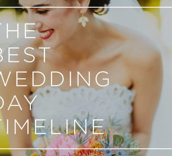 best wedding day timeline