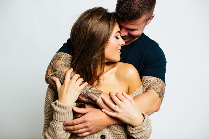 studio engagement photography