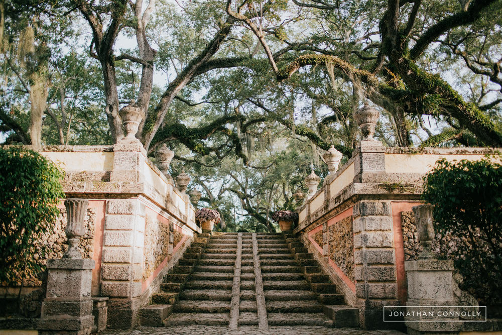 vizcaya garden wedding photos
